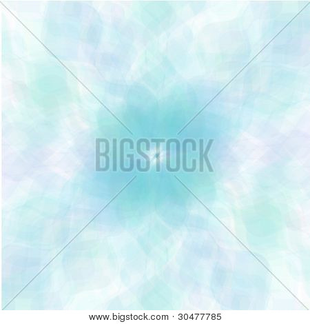 Retro blue pastel flowers background