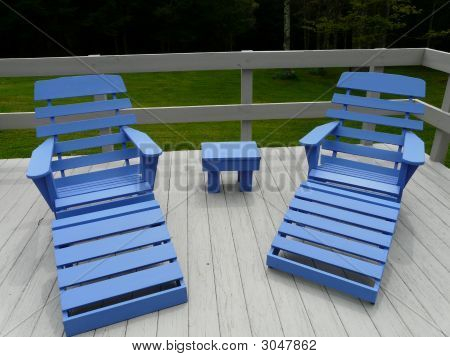 Blue Adirondack Chairs