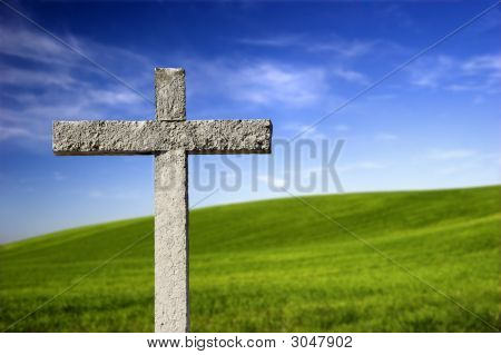 Religious Cross In The Paradise