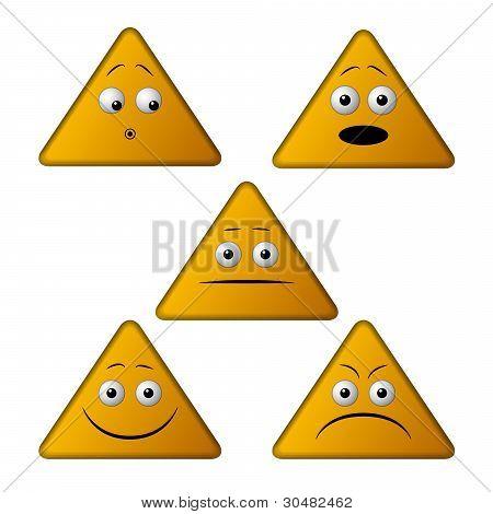 Emoticonos de triángulo