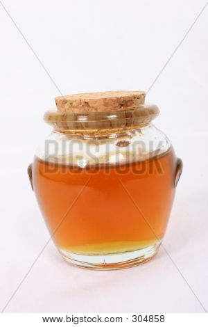 Honey Pot With Some Honey