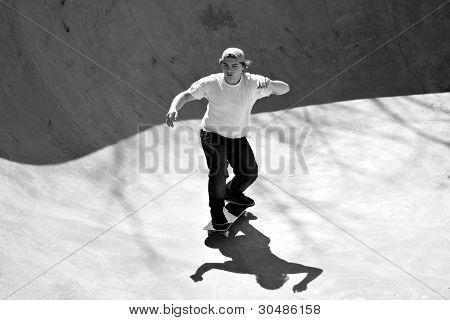 Skater Inside A Bowl