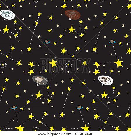 Galactic Seamless Pattern