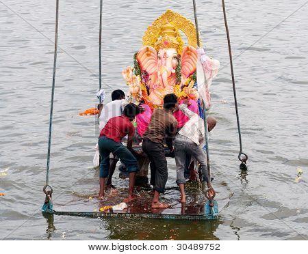 Ganesh Immersion-Hindu festival