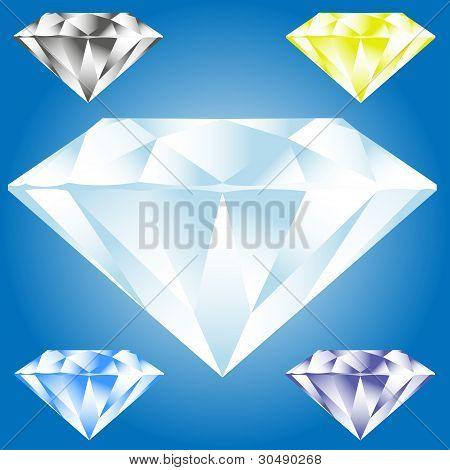Vector illustration of diamond icon