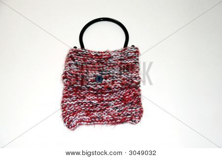 Red Black Hand Bag