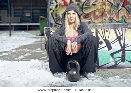 Sexy Fit Woman In Ghetto