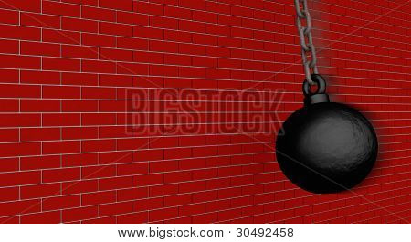 Wrecking Ball Vs. Wall