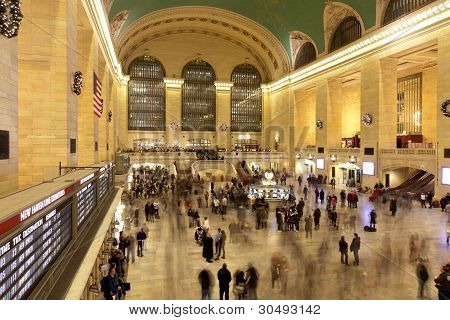 Grand Central Terminal In Manhattan-New York
