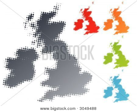 Uk Ireland Modern Halftone Design Element