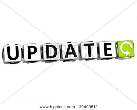 3D Update Navigation Button Cube Text
