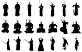 Kendo Fighter Silhouettes