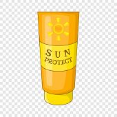 Sun Lotion Icon. Cartoon Illustration Of Sun Lotion Vector Icon For Web Design poster