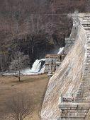stock photo of crotons  - dam in cortlandt ny croton gorge park lake river mountains beautiful waterfall - JPG