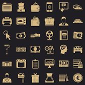 Accommodation Icons Set. Simple Style Of 36 Accommodation Vector Icons For Web For Any Design poster