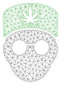 Mesh Cannabis Doctor Head Polygonal Icon Vector Illustration. Abstraction Is Based On Cannabis Docto poster