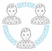 Mesh Connected Social Members Polygonal Icon Vector Illustration. Abstraction Is Based On Connected  poster