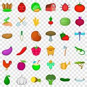 September Icons Set. Cartoon Style Of 36 September Vector Icons For Web For Any Design poster