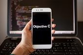 Objective C Mobile Application Development, Programming Language For Mobile Development. Smartphone  poster