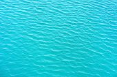 Blue Rippled Water As Abstract Background. Tranquil Surface Texture Of The Sea. Water Ripples Of A L poster