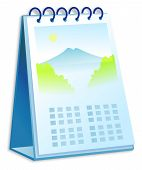 picture of annal  - a Desk Calendar illustration over white background - JPG