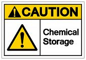 Caution Chemical Storage Symbol Sign ,vector Illustration, Isolate On White Background Label. Eps10 poster