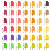 Big Colorful Set Different Types Natural Ice Cream, Structure Icecream Various Size. Icecream Consis poster
