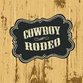 Grunge background with wild west styled label. Vector, EPS10.