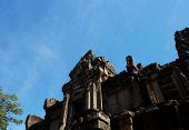 Ancient Dilapidated Stone Building. Architectural Monuments Of Ancient Civilizations. poster