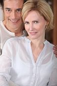 picture of matron  - man and woman smiling - JPG