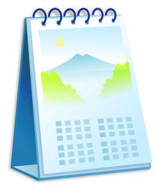 stock photo of annal  - a Desk Calendar illustration over white background - JPG