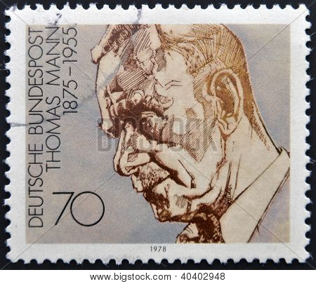 GERMANY - CIRCA 1978: A stamp printed in Germany shows Thomas Mann circa 1978