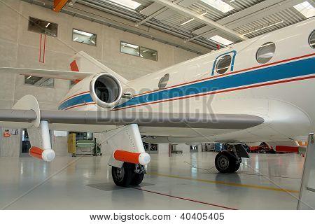Business Aircraft In A Aircraft Hangar