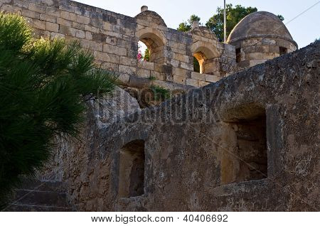 Fortezza - details of an old Venetian fortress in Rhetymno