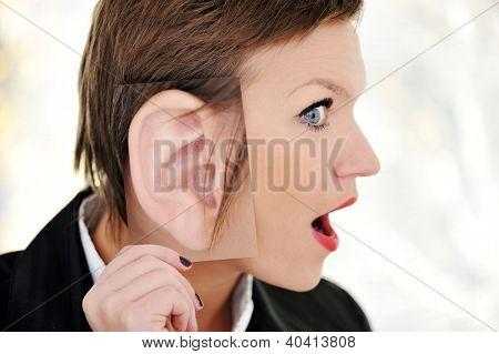 Female giant ear shock concept