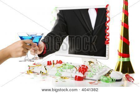 Toast Using Blue Martini