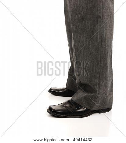 Businessman leg concept with copy space