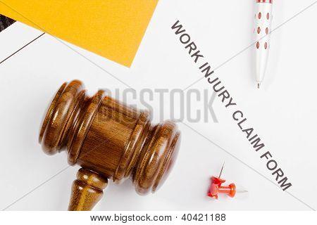 Formulario de reclamación de lesiones de trabajo