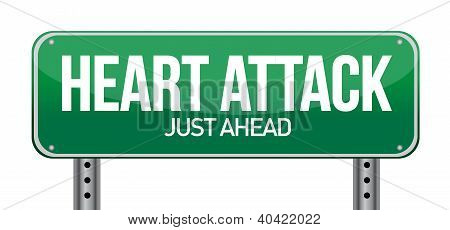 Heart Attack Green Road Sign