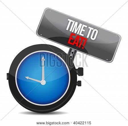 Clock With Words Time To Eat