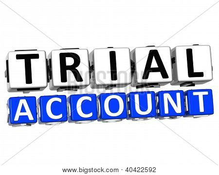 3D Trial Account Button Click Here Block Text