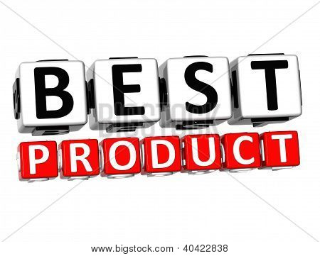 3D Best Product Button Click Here Block Text