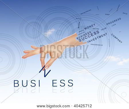 Business concept with words