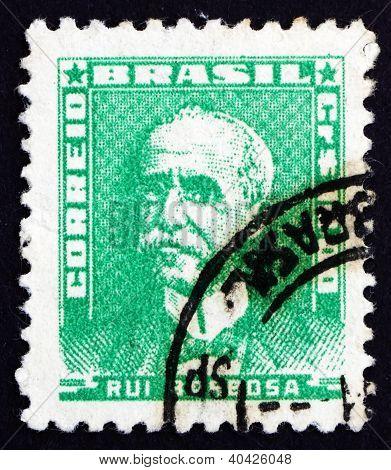 Postage stamp Brazil 1954 Rui Barbosa de Oliveira, Politician