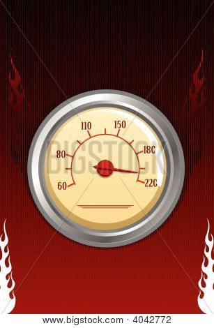Vector Speedometer With Fires