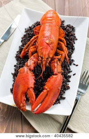 Lobster With Black Rice