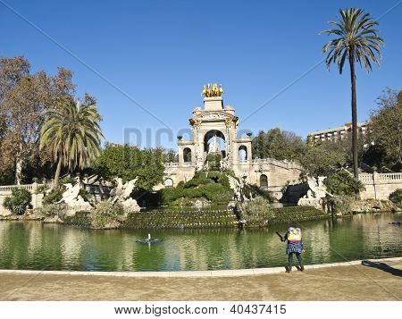 The Historical Garden Of Parc De La Ciutadella