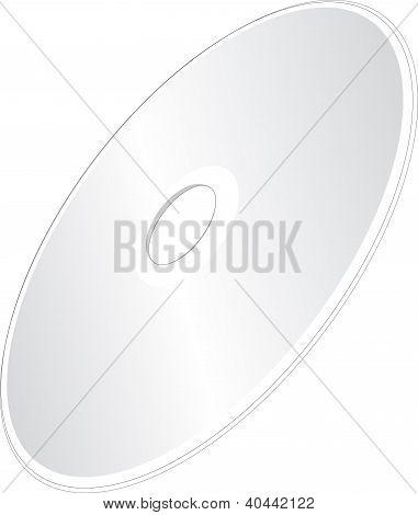 Vector Compact Disc A CD or DVD