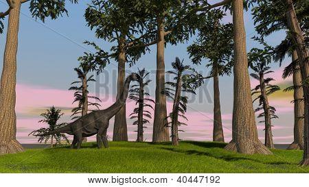 brachiosaurus in jungle