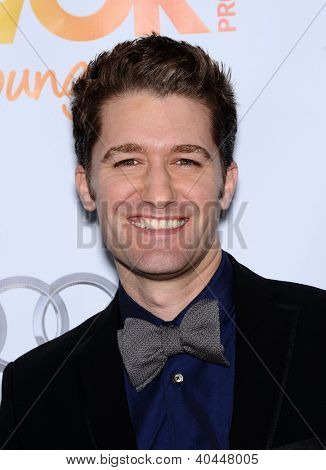LOS ANGELES - DEC 02:  Matthew Morrison arrives to Trevor Project Honors Katy Perry  on December 02, 2012 in Hollywood, CA